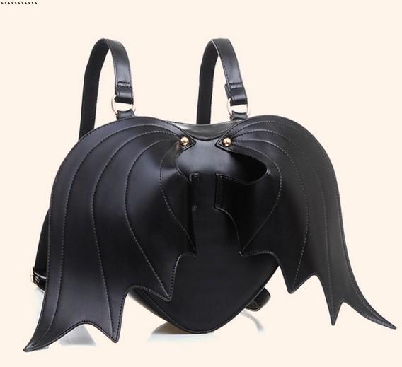 Bat Heart Backpack Unisex Backpacks The Bat