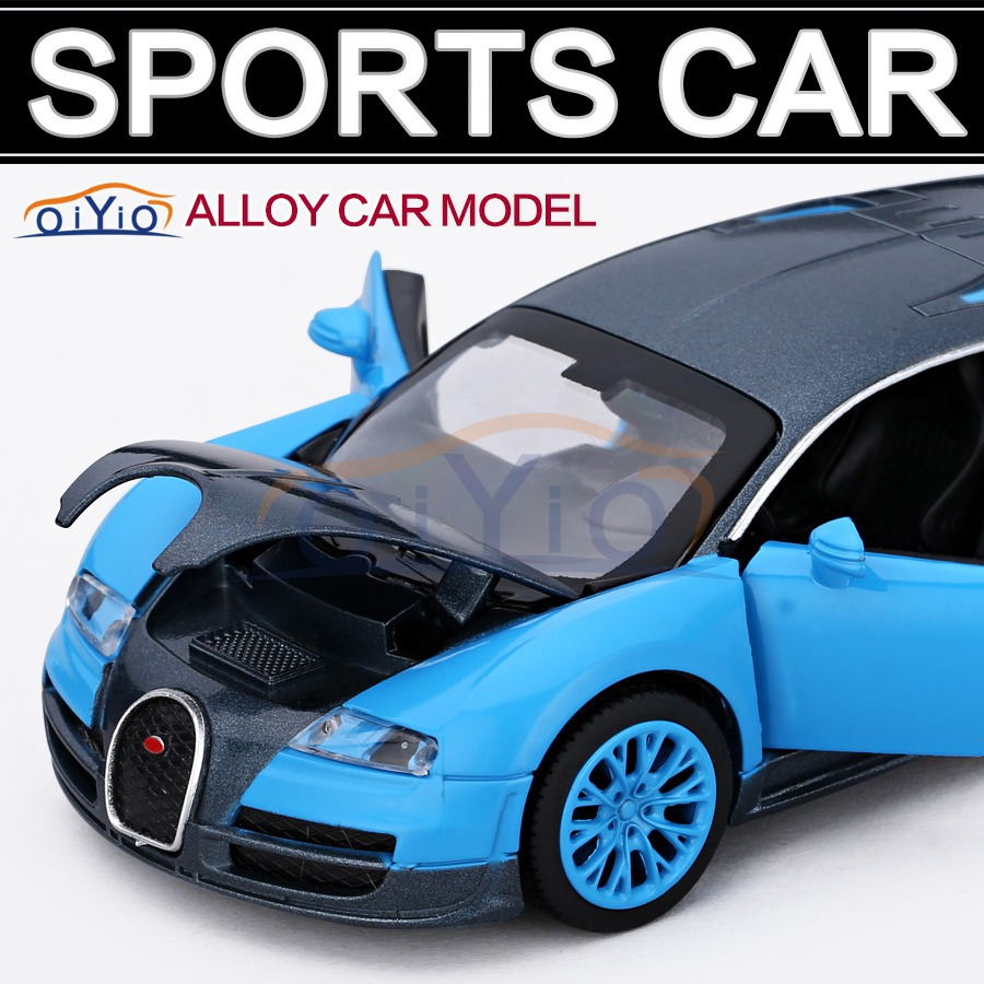 New 1:32 car model for Bugatti Veyron sport Car model Toys for childern Pattern Diecast Sound & light VB32043(China (Mainland))