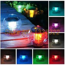 Solar lamp Viewing Light LED garden lights The pond lamp Water floating Creative small night light(China (Mainland))