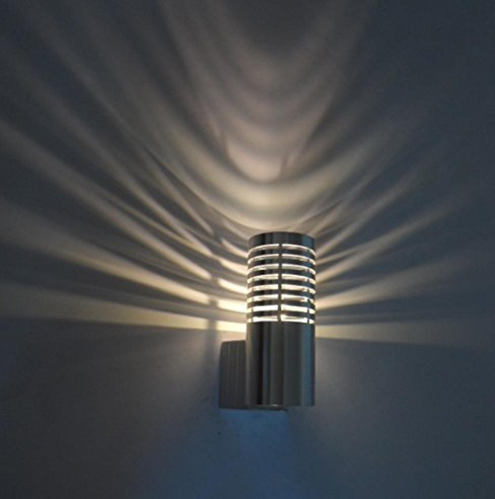 High quality 3W Modern Led Wall Light with Cylinder Bar Spray Layer Light AC85-265V Decorative Indoor Lighting(China (Mainland))