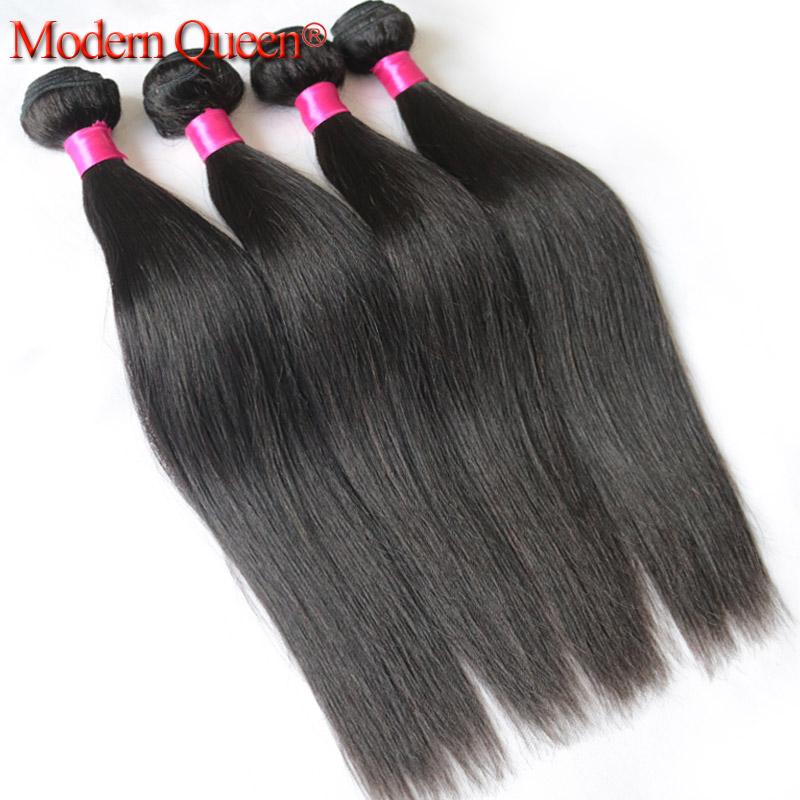 Queen hair 4pcs Peruvian Virgin Hair Straight Natural Black 100% Human Hair Weave 10-28inch Human Hair Extensions Free shipping