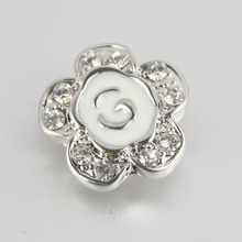 30 pcs/lot flower 18mm metal snap button Wrist watches for women M565 bracelet bead charm one direction famous brand jewelry