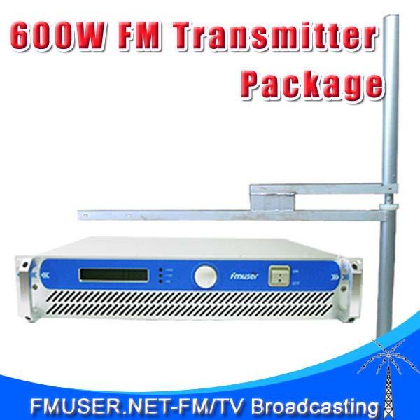 FMUSER 600W 2U FSN-600 Professional FM Broadcast Radio Transmitter 87.5-108 MHz 0-600w + FU-DV2 Dipole Antenna + 30m 1/2'' Cable(China (Mainland))