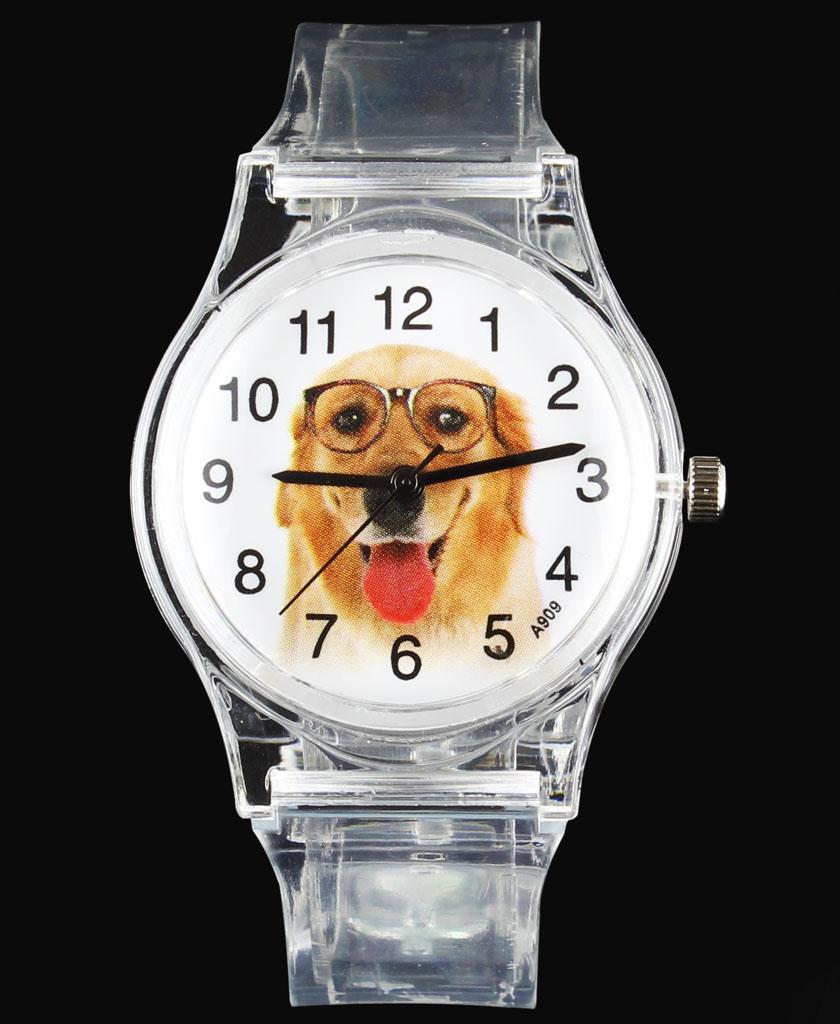 Pug / Beagle / Saint Bernard / Papillon / Golden Retriever Terrier Dog / Cat Pet Cartoon Children Kids Watches Baby Wrist Watch(China (Mainland))