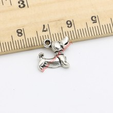 Buy 30pcs Tibetan Silver Plated Dogs Charms Pendants Bracelet Necklace Jewelry Making DIY Handmade Craft 13x12mm for $1.49 in AliExpress store