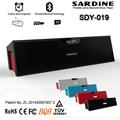 Wireless SARDINE Bluetooth HIFI Speaker LCD Display Digital clock Support Line in FM Handfree Amplifier Stereo