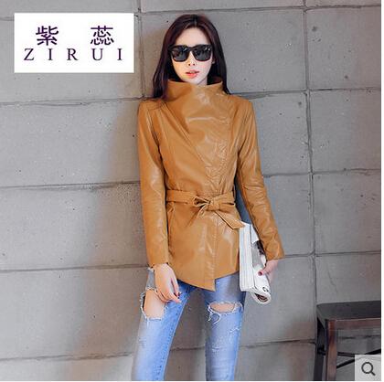 Кожа куртка женщины в пальто женское осень и зима полиуретан jaqueta де couro кожа куртки для женщины