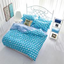 Freeshipping Wholesale Cheap Bedding Sets Parure de Lit Marque Quilted Bedspreads Whale Duvet Cover Sets Cotton Blending(China (Mainland))