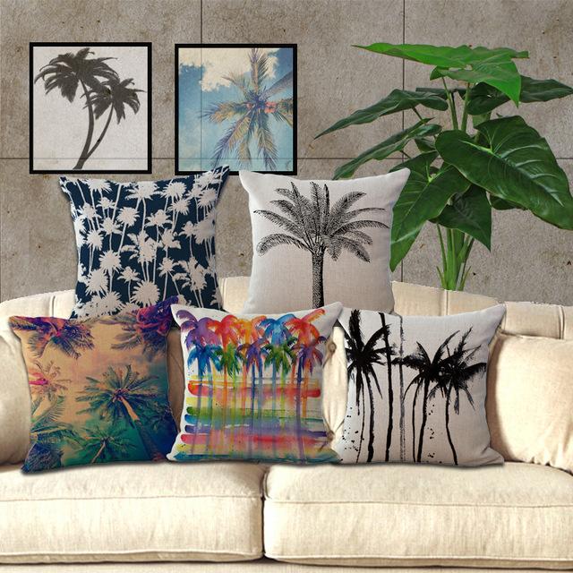 Горячая мода домой декоративные наволочку для домашнего отеля Hug чехол чехол 1 шт. 45 X 45 см свободного покроя гавайи кокосовой пальмы картины