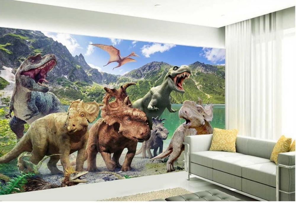 dinosaures papier peint promotion achetez des dinosaures. Black Bedroom Furniture Sets. Home Design Ideas