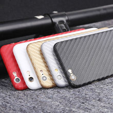 Hot case Luxury Back Litchi Skin Carbon Fibre FOR iphone6 6s stickers Decal Wrap Case Factory price