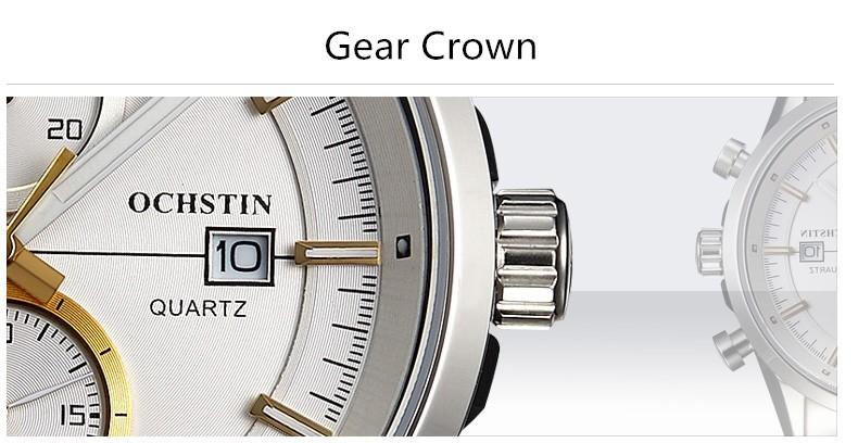 2016 Продажа Ochstin Люксовый Бренд Аналоговый Дисплей Дата мужская Кварцевые Часы Час Часы Повседневная Бизнес Мужчины Часы Relogio Masculino