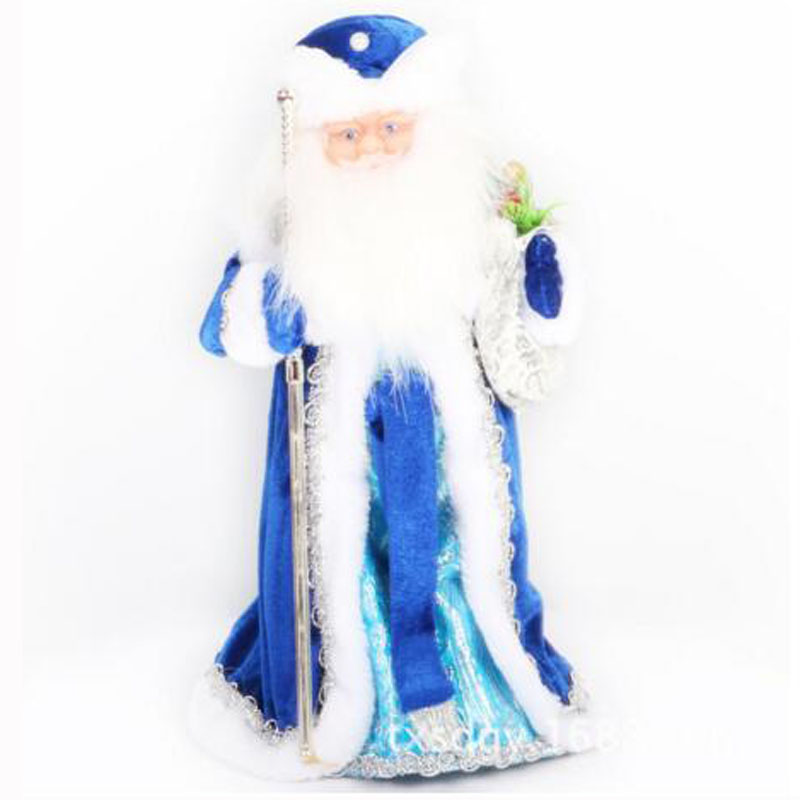 Christmas Decorations For Home Santa Claus & Snow Girl Russian Music Electric Flashing Dancing Santa Xmas Supplies Toy R20(China (Mainland))