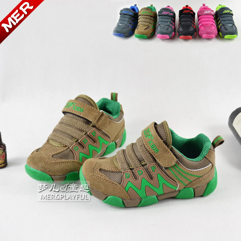 2015Spring and autumn  boys  female baby shoes  big children genuine leather gauze shoes sport  running shoes<br><br>Aliexpress