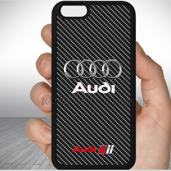 audi carbon skin custom Print Phone Case cover for iphone 6 4s 5s 5c ...