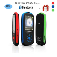 2017 New Original RUIZU X06 Bluetooth Sports MP3 music Player 8GB with 1.8Inch Screen 100hours high quality lossless Recorder FM(China (Mainland))