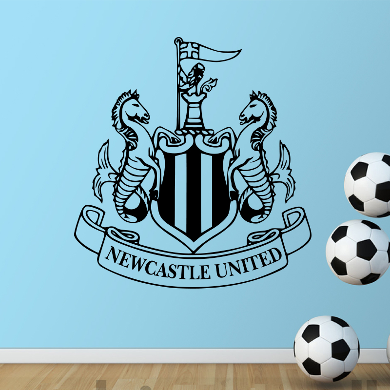 New Castle United badge Wall sticker Vinyl Football Marks Art Home Decor Wall Decal DIY soccer club signs in bedroom or shop(China (Mainland))