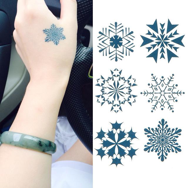 temporary tattoo sticker beautiful waterproof body tattoo sticker frozen fake tatoo temporary HC 15 snow design(China (Mainland))