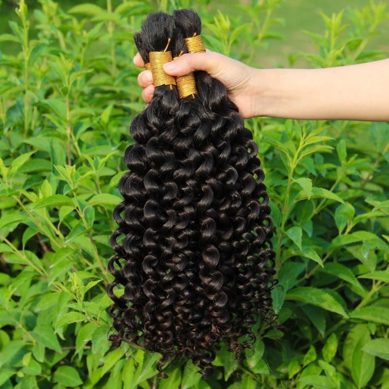 YWD Hair 1 kg Brazilian VirgHair For Braiding Curly Human Braiding Hair Bulk No Weft Kinky Curly Bulk For Braiding 12-34inches