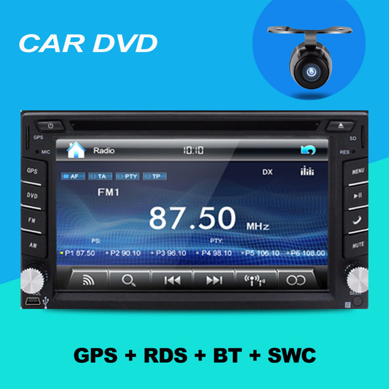 Auto Electronics Car Radio Double 2 din Car DVD Player GPS In dash Car PC Stereo Head Unit video+Free Map+Free Camera USB For VW(China (Mainland))