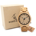 BOBO BIRD All Wood Bamboo Watches Top Brand Designer Men s Wooden Watches Lumious Needle Quartz