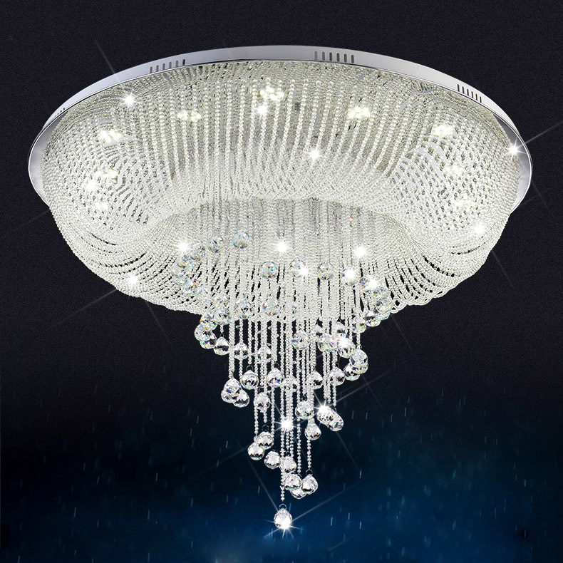 buy large modern crystal chandelier for ceiling luxury living room crystal lamp. Black Bedroom Furniture Sets. Home Design Ideas
