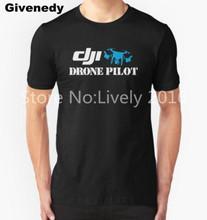 DJI DRONE PHANTOM PILOT Men's T-Shirt Dji Pilot Graphic Letter Printed Fashion Cotton Top Tee T-shirts cotton Printing t shirt