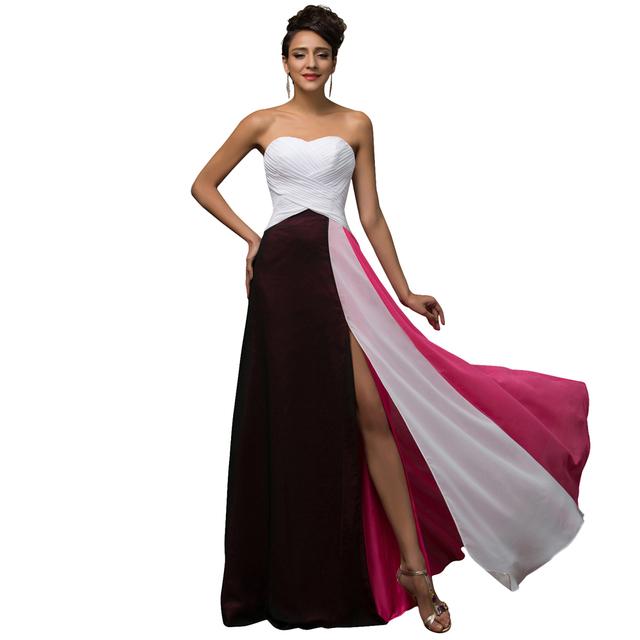 Грейс карин сексуальная сторона сплит элегантные вечерние платья с длинными Abendkleider ...