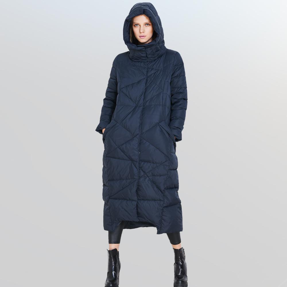 European Fashion 2015 New Winter Luxury Women s Hooded X Long Down Jacket Women s Thickening