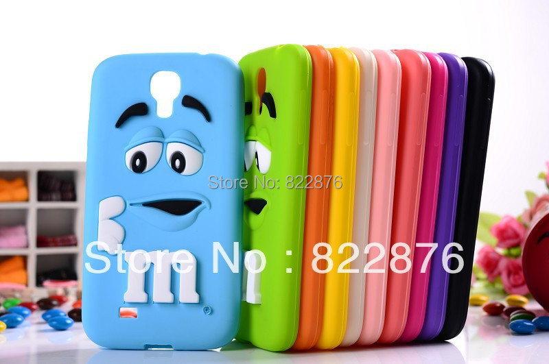 DHL/Fedex Free Shipping Candy Bean MM silicone Rainbow Bean case cover for Samsung Galaxy S4 i9500,500pcs/lot+Free Shipping