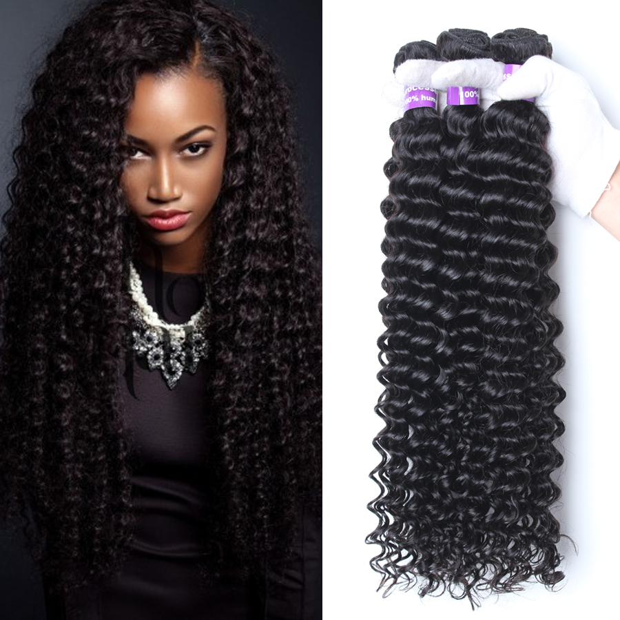 Pictures Of People With Weave Deep Wave Human Hair Remy