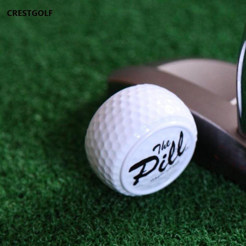 1pc New Design golf pelotasTwo Layer Driving Range Balls Golf ballen Balls Flat Shape Practice Golf Balls Bolas Balle de Golf(China (Mainland))