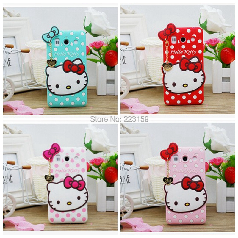 Free shipping 3D Cute cartoon case for Huawei G510 G520 G525 cover Hello Kitty silicon case for Huawei Ascend G510 G520 G525(China (Mainland))