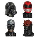 X MERRY TOY New Captain America Mask Men s Latex Movie Costume Helmet Adult Latex Mask