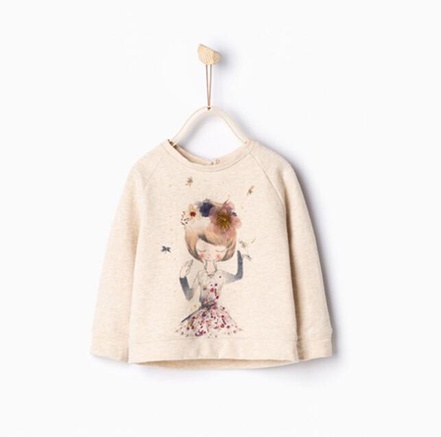2016 New Childrens baby Cartoon pullover Sanding cotton dancing girl fleece/coat wholesale<br><br>Aliexpress