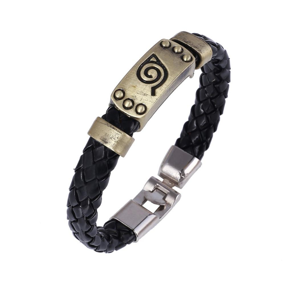 Hot Sale Leather Bracelets For Men Woman Bracelet Men Jewelry Boy Gift  Cosplay Bangles Braided Wristband Bracelet