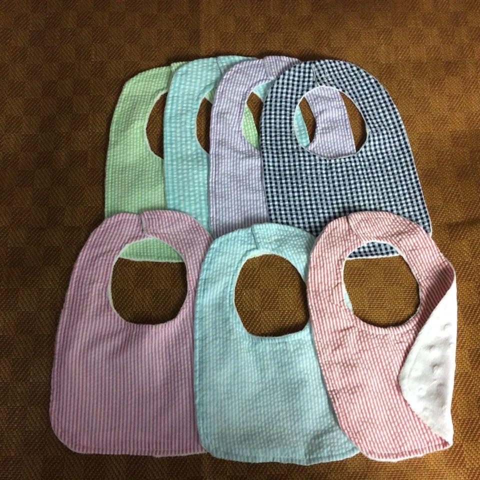 Multi color seersucker plain Baby Bibs Scarf Saliva Apron Towel Accessories Infant slabber boys girls Kids Burp Cloths(China (Mainland))