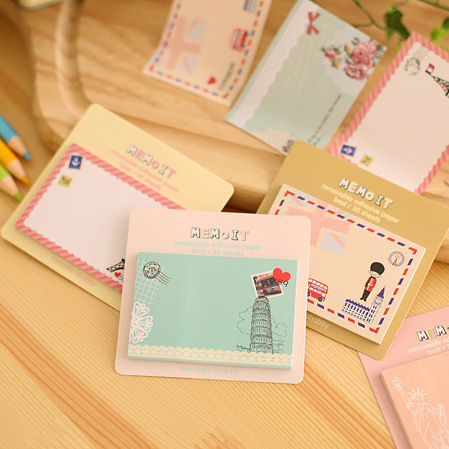 Free ship!10set! fresh and lovely cartoon N times stickers / sticky notes / creative paper notes/Memo Pads/4model 0257<br><br>Aliexpress