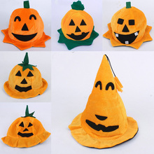 2016 Hot Halloween Pumpkin Hat Fancy Dress Party Costume Cosplay Cap Party Decor for Kids Unisex Accessory Free shipping(China (Mainland))