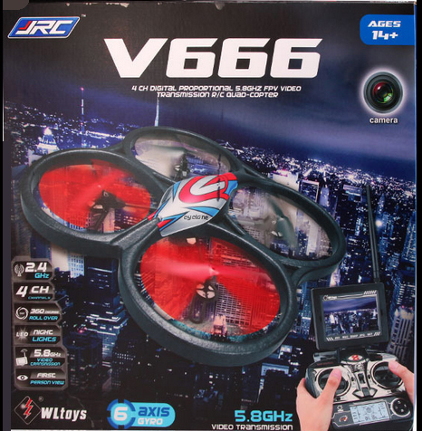 wltoys v666 WLtoys V666 5.8G FPV 6 Axis 4CH RC Big Quadcopter drone with camera rc helicopter with camera professional drones(China (Mainland))