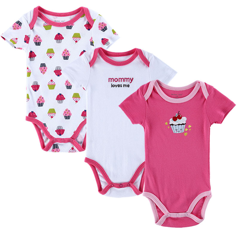 3pcs/lot Baby Rompers Newborn Rompers Short Sleeve Cotton Baby Boy Girl Rompers Baby Clothing(China (Mainland))