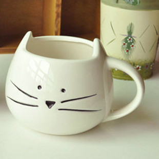Free shipping 1Pcs New 2015 Zakka cute hello kitty ceramic mug Breakfast milk cup Office coffee cup Tableware Home decoration(China (Mainland))