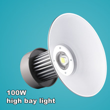 100W Integrated LED High Bay Light Factory Warehouse Ceiling LED Industrial Light Replace Halogen Lamps White/Warm White(China (Mainland))