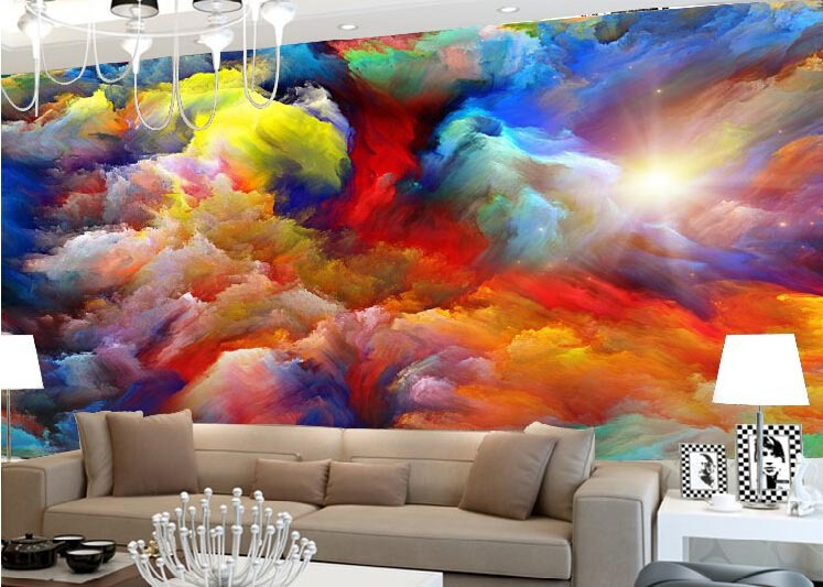 Paper picture more detailed picture about custom 3d for Abstract mural wallpaper