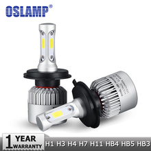 Buy Oslamp H4 H7 H11 H1 H13 H3 9004 9005 9006 9007 9012 COB LED Car Headlight Bulb Hi-Lo Beam 72W 8000LM 6500K Auto Headlamp 12v 24v for $19.53 in AliExpress store