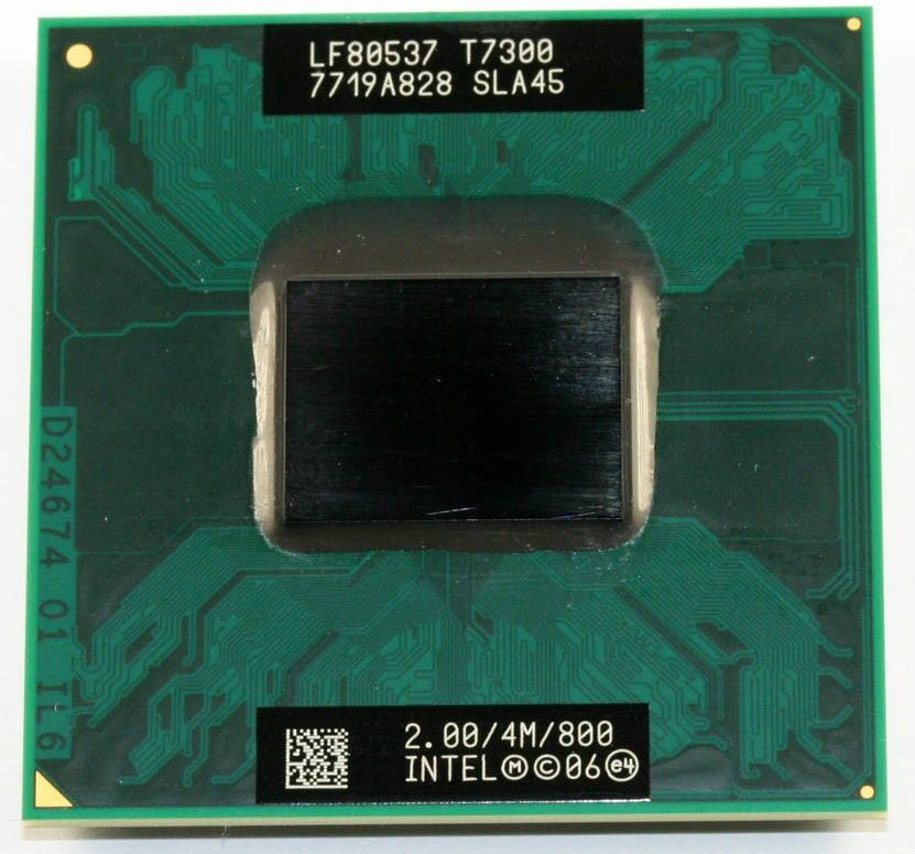Shipping free Intel Core Duo T7300 CPU (4M Cache,2.0GHz,800MHz FSB) Scoket 478,Dual-Core Laptop processor for 965 chipset(China (Mainland))