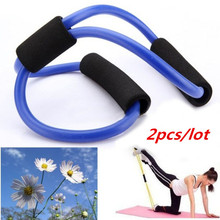 2pcs lot Fitness Resistance Bands Resistance Rope Exerciese Tubes Elastic Exercise Bands for Yoga Pilates Workout