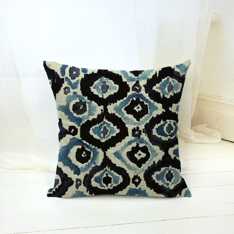 Vintage Looking Throw Pillows : Europe Style 18x18 Cotton Linen Retro Vintage Geometry Decorative Throw Pillows Kussens Home ...