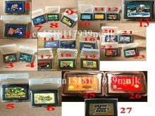 Multi Optional GBA Game Cartridges: Megaman zero/Kirby/Donkey Kong Country/Sonic Advance/CASTLEVANIA/fire emblem/grand theft etc(China (Mainland))