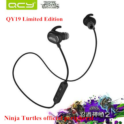 New Original QCY QY19 NINJA Turtles limited edition Bluetooth 4.1 Headset Wilress Headphone IPX4 Waterproof Stereo Earphone(China (Mainland))